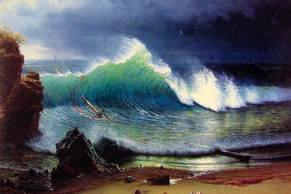 The Shore of the Turquoise Sea, Albert Bierstadt