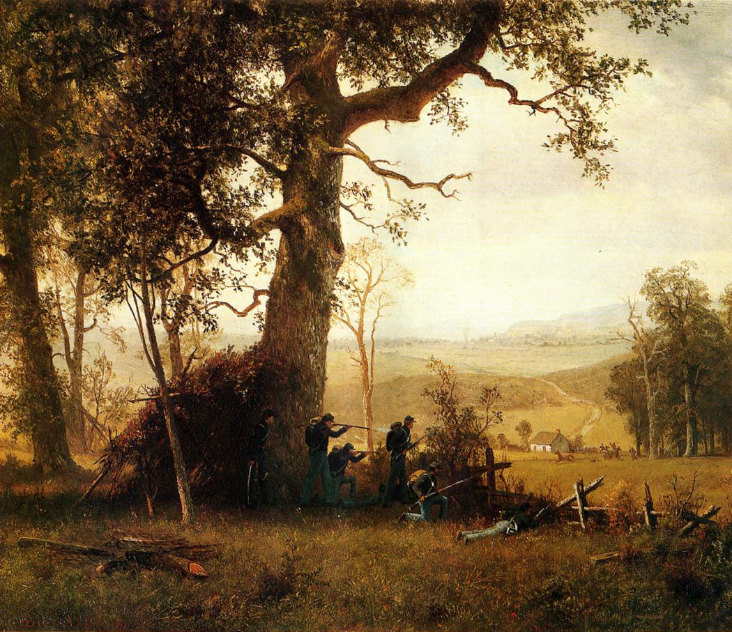 Guerrilla Warfare. Picket Duty in Virginia 1862, Albert Bierstadt