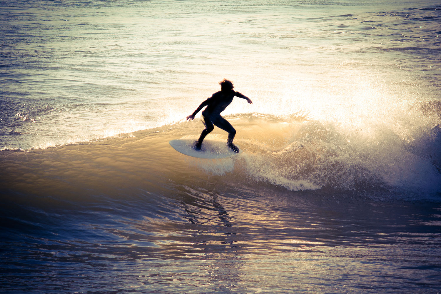 Joy of surfing is the act