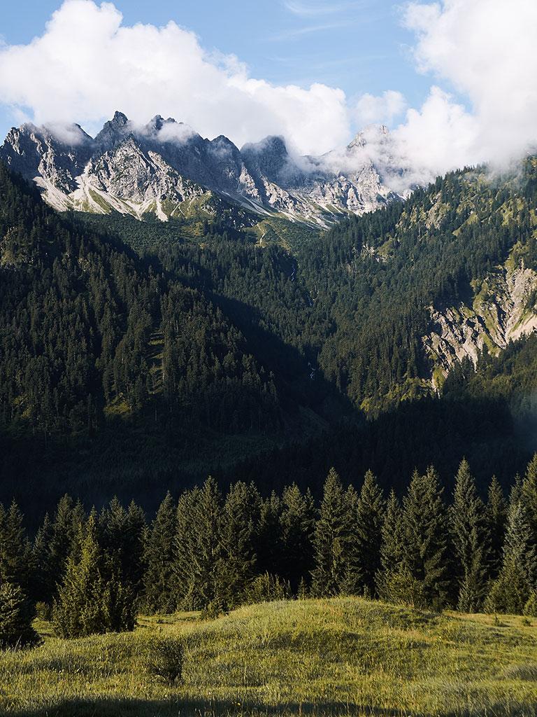 Lake Schrecksee hike, Hinterstein