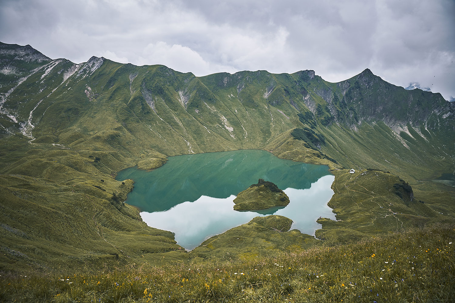 Lake Schrecksee hike, view towards high valley