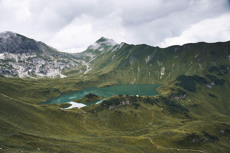 Lake Schrecksee hike, view towards Rauhhorn