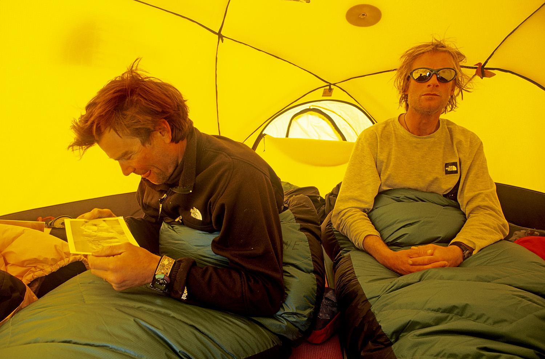 Alex Lowe and Conrad Anker, Patton Glacier, Ellsworth Mountains, Antarctica