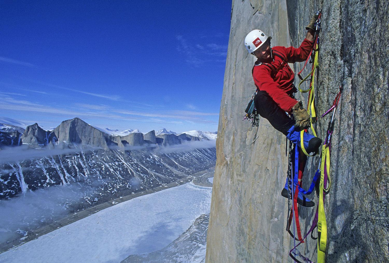 Alex Lowe, Great Sail Peak, Stewart Valley, Baffin Island, Canada