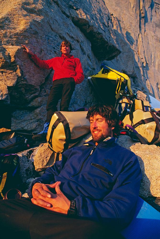 Alex Lowe and Mark Synnott, Great Sail Peak, Baffin Island, Canada