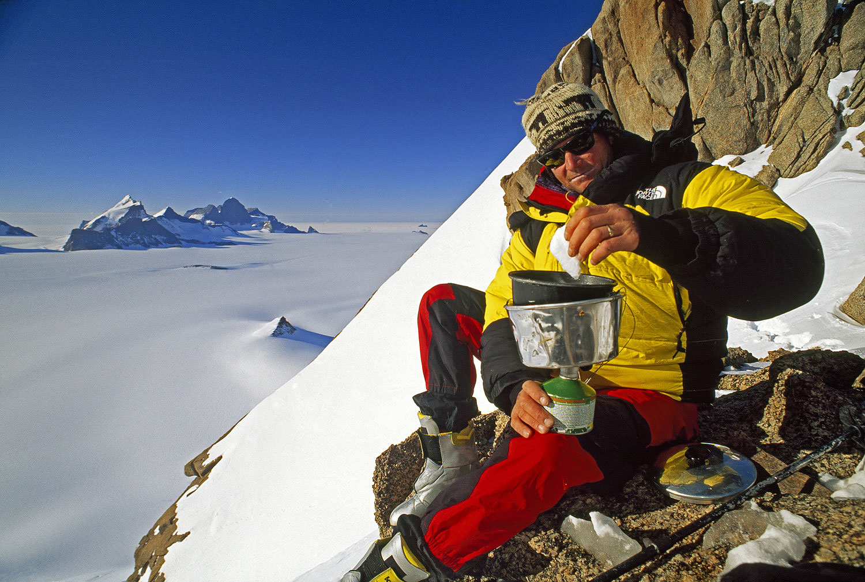 Alex Lowe, Troll's Castle, Filchner Mountains, Antarctica.