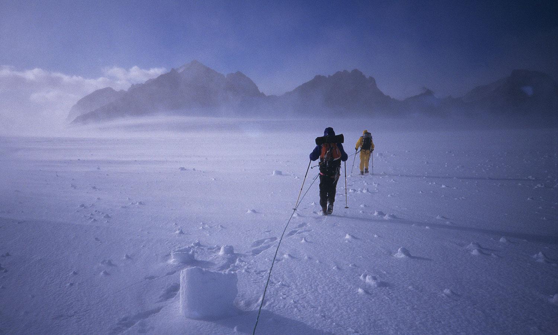 Conrad Anker and Reinhold Messner, Shackleton Glacier
