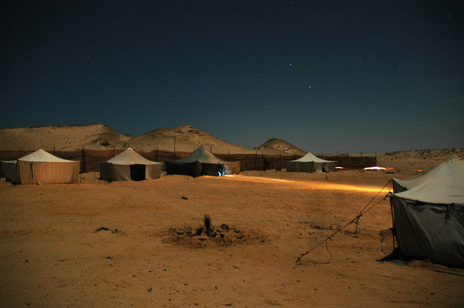 Dakhla camp at night