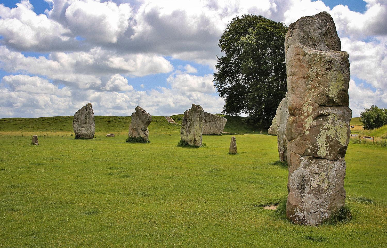 Circular stones of Avebury, Wiltshire
