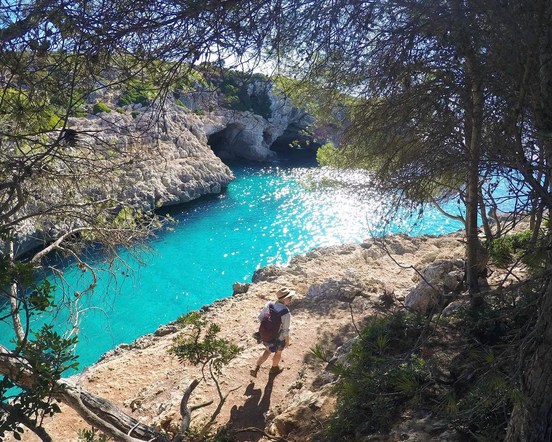 Cala Barques, a favourite Mallorcan deep-water solo spot