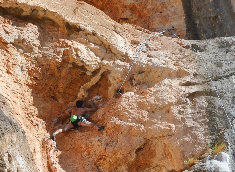 Climbing Sa Gubia, Mallorca