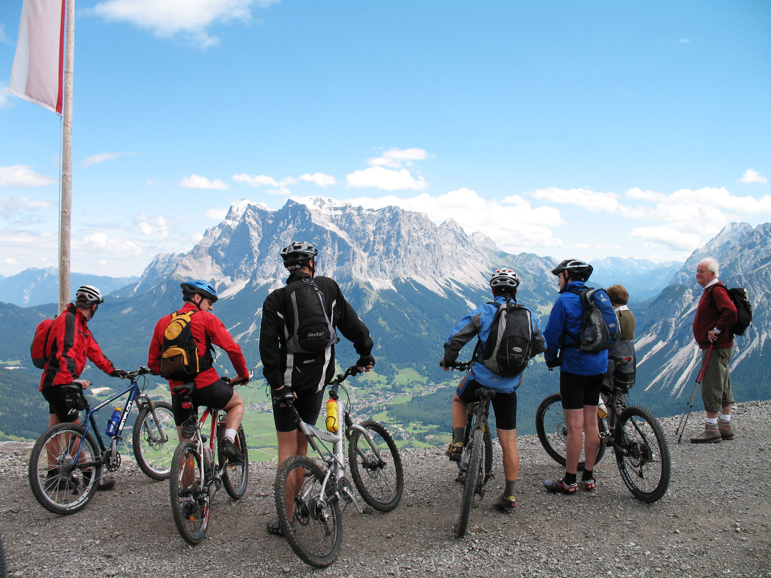 Mountain biking in the Reutte District, Tyrol, Austria