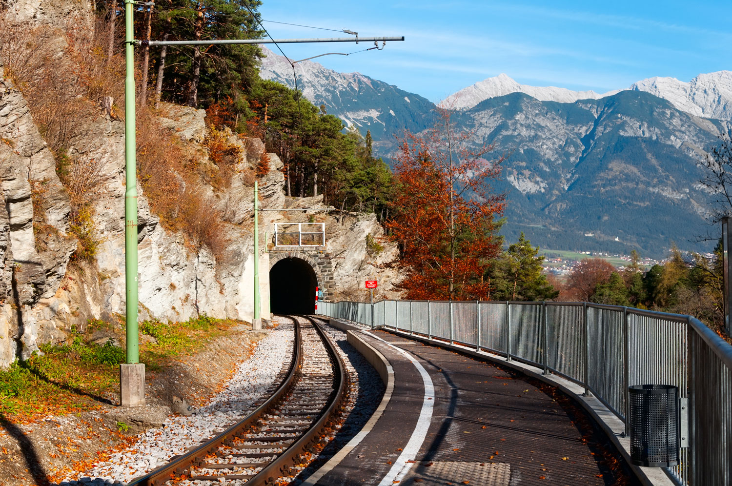 Railroad tunnel, Innsbruck, Austria