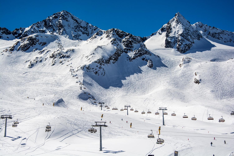Stubai Glacier ski area, Innsbruck, Tyrol, Austria