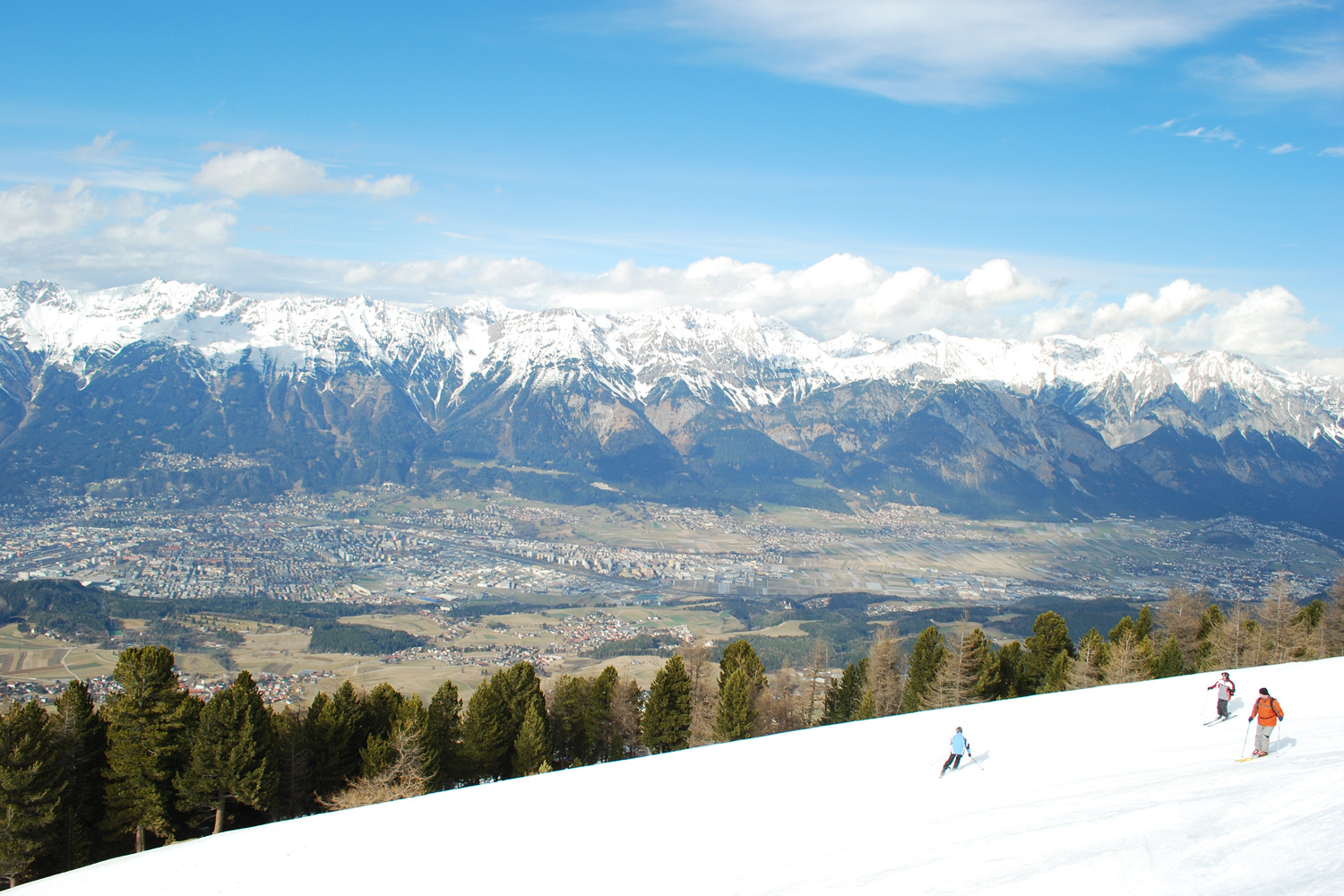 View from Patscherkofel over Innsbruck, Austria