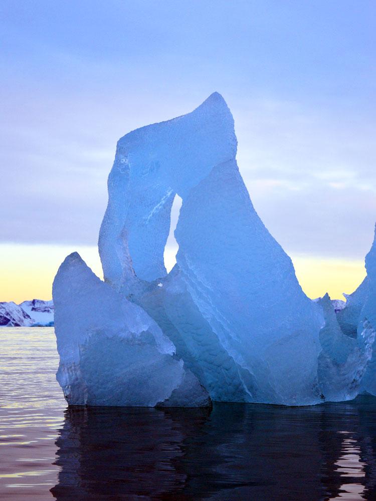 Greenland ice block