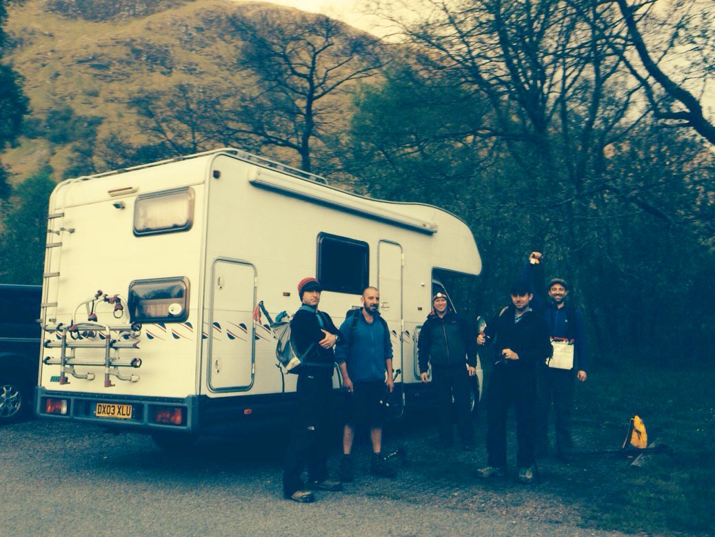 Millwall the motorhome, Three Peaks Challenge