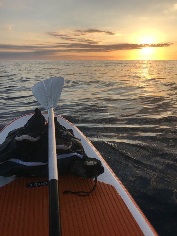 SUPing Ibiza north coast, sunrise