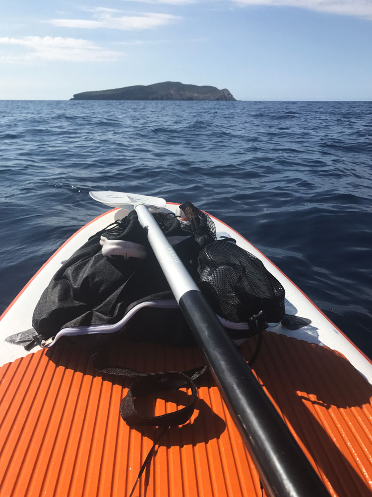 SUPing to Tagomago Island, Ibiza