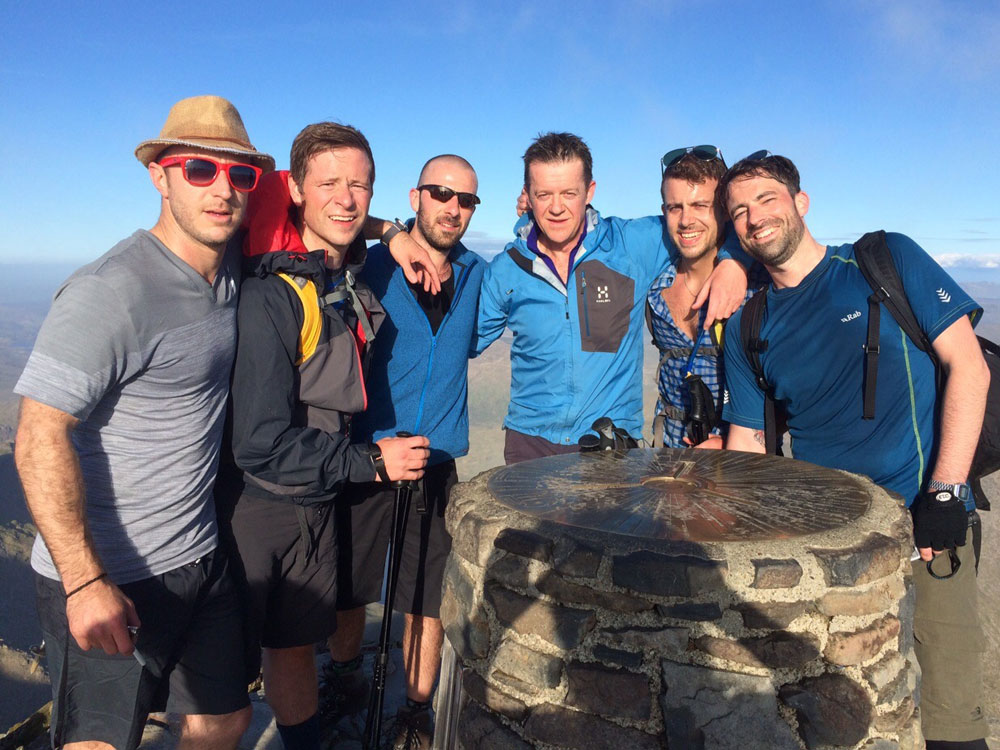 Top of Snowdon, The Three Peaks Challenge