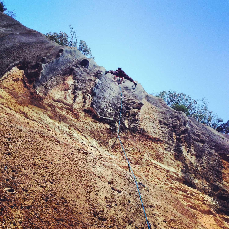 Climbing Margalef, Catalonia, Spain