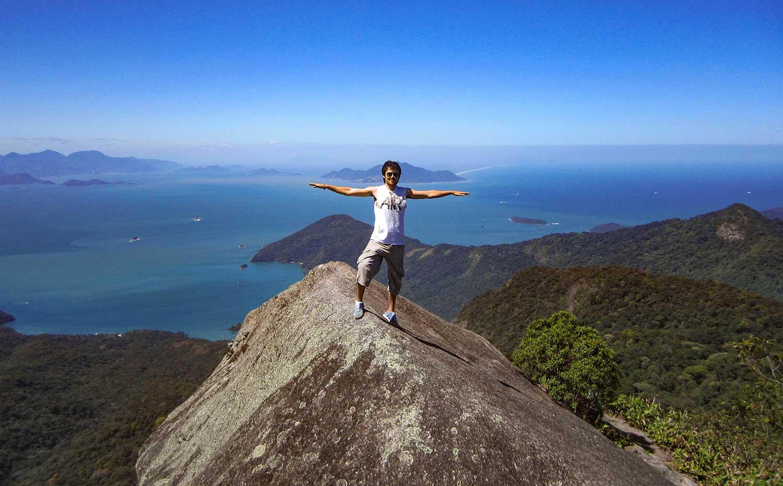Neil Robertson, Travels with a Kilt, at Ilha Grande, Brazil