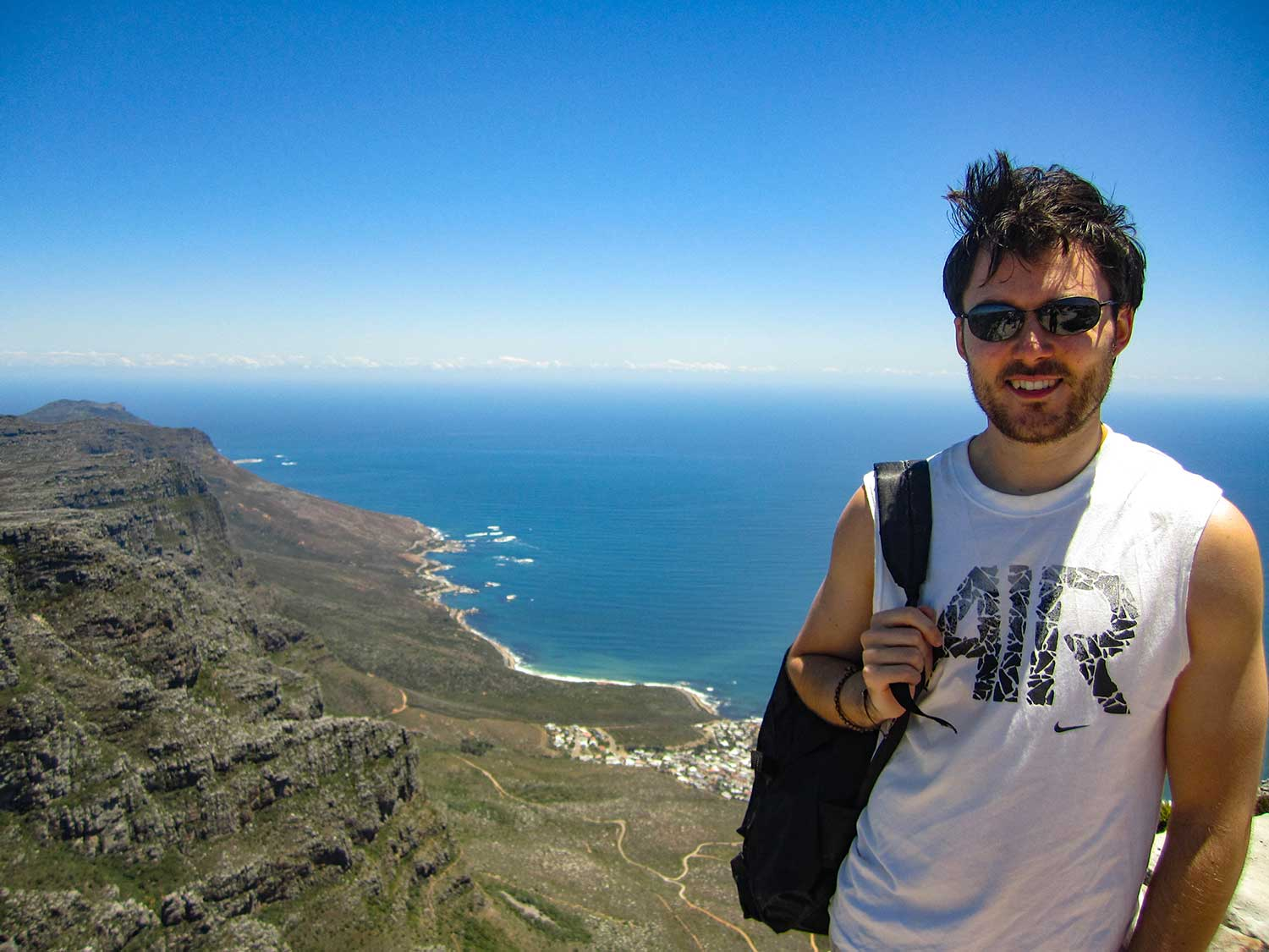Neil Robertson, Travels with a Kilt at Table Mountain, Cape Town