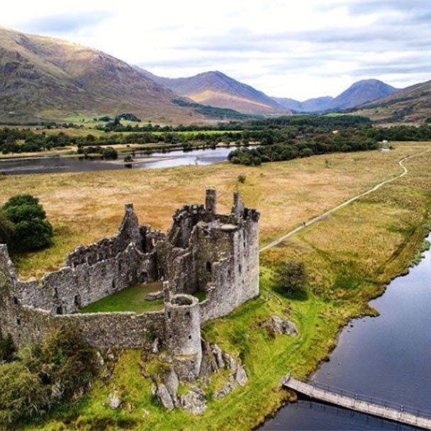 Travels With A Kilt - Drone footage of a castle in Scotland