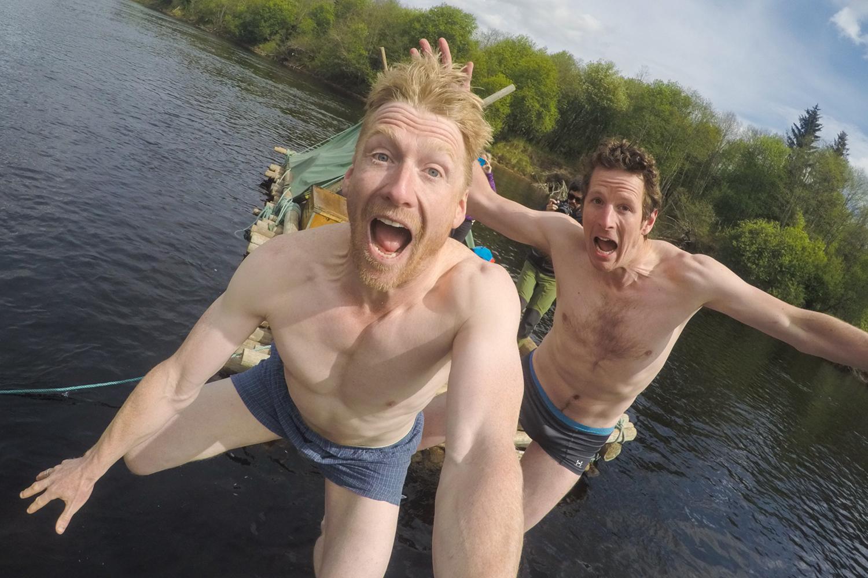 Al Humphreys Jumping into the River