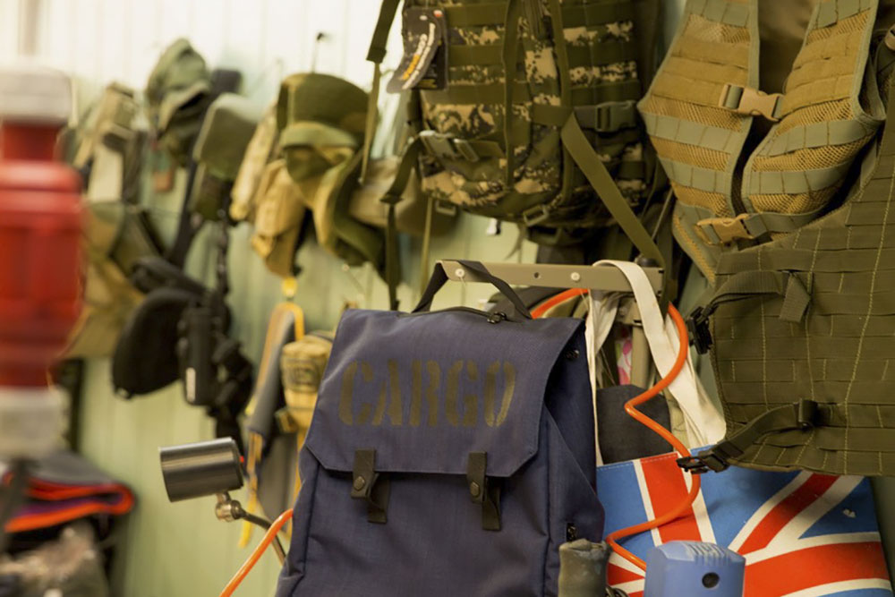 CARGO bags use the same material as military gear