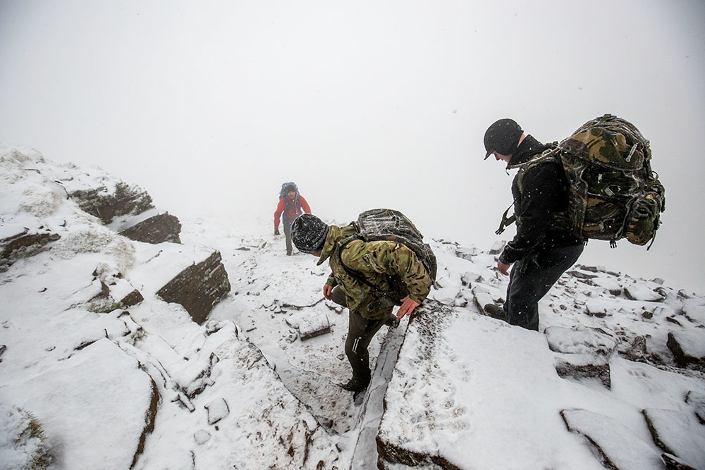 Jacob's Ladder descends from the summit of Pen y Fan