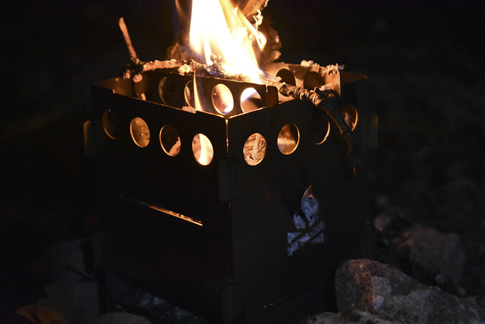 Cooking on an open fire is far more satisfying than indoors.