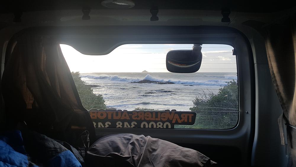Camper van morning views