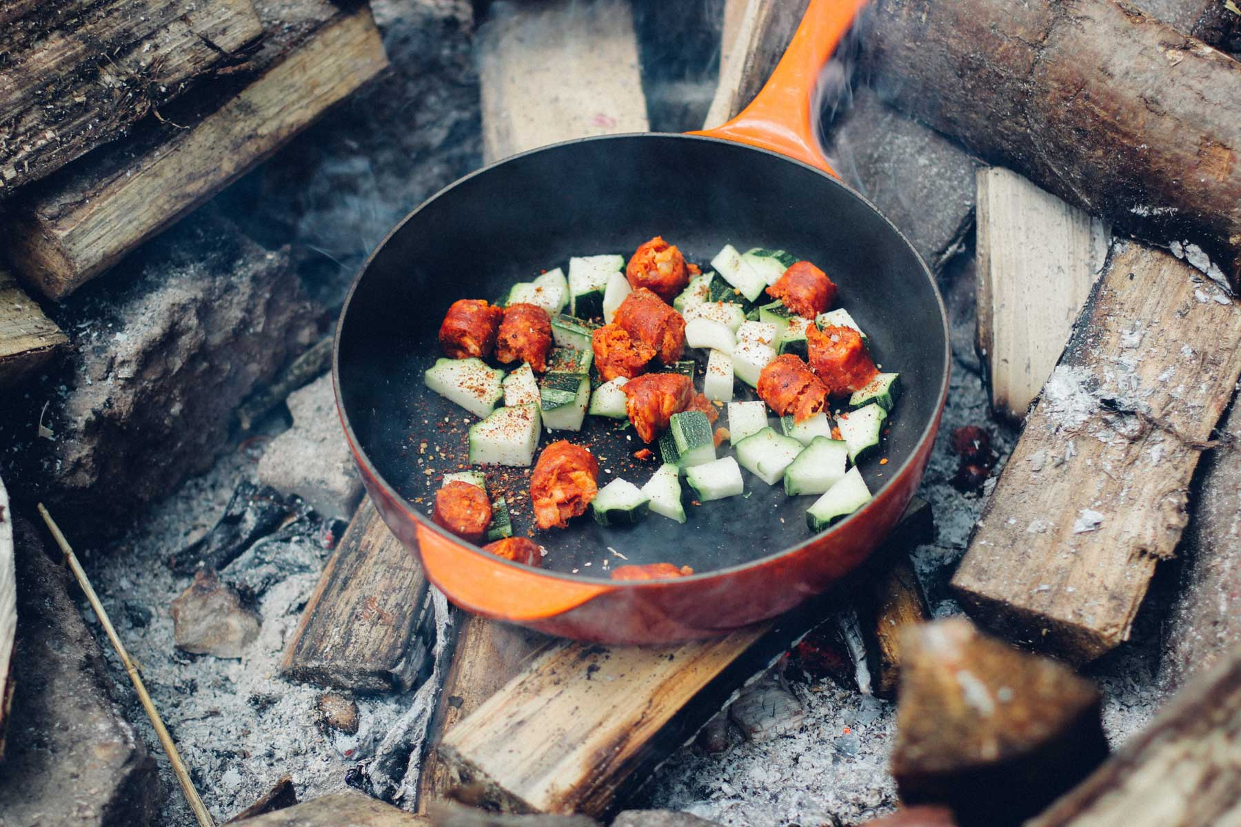 Food tastes better when cooked outdoors