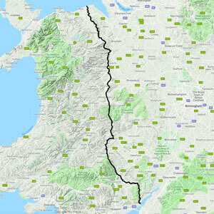 Offa's Dyke Path map