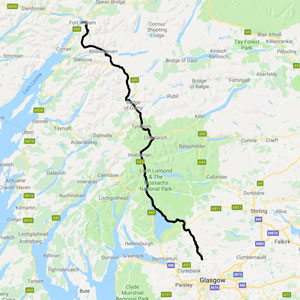 Map of West Highland Way