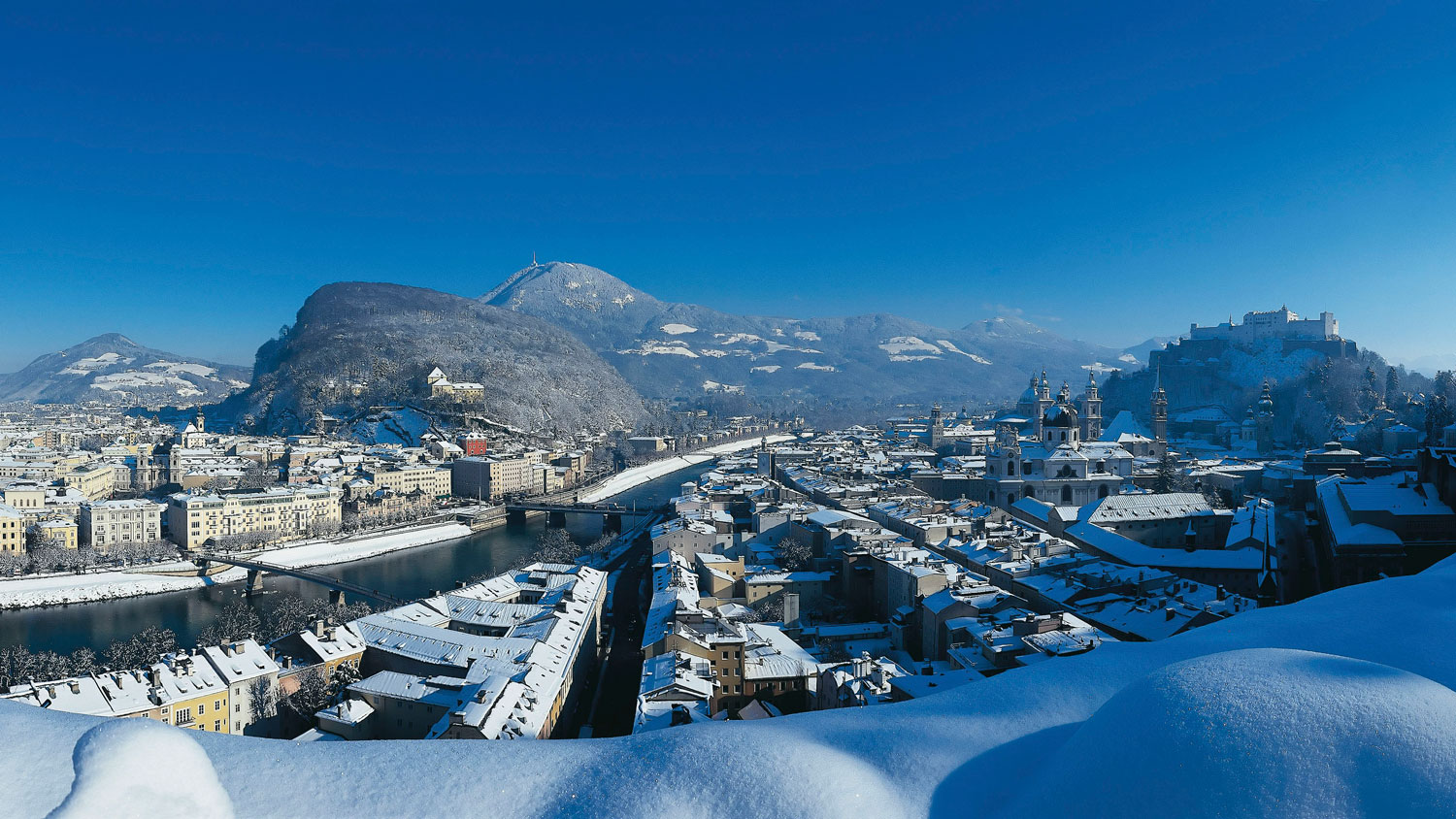 Salzburg under a blanket of snow